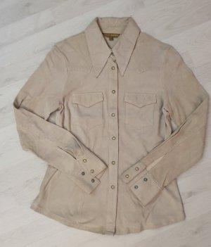 Beiges Lederhemd   von  Hennes  - H & M   Gr. 36