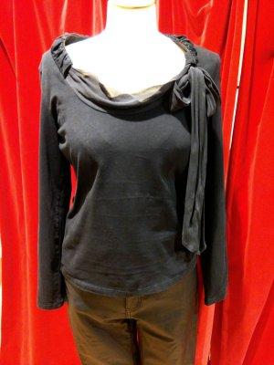 Letzte Reduzierung! Boss - Langarmshirt mit Schleife, schwarz, Gr.L - gut!