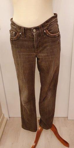 Cambio Jeans Vaquero elásticos marrón-marrón oscuro tejido mezclado