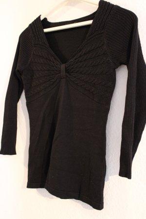Bodyflirt Warkoczowy sweter czarny Bawełna