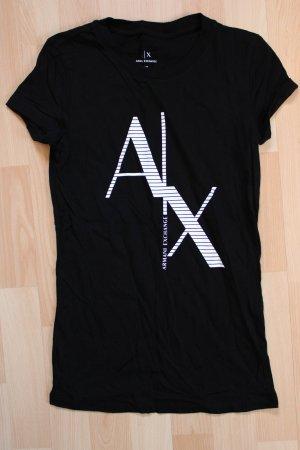 Armani Exchange T-shirt czarny-biały Bawełna