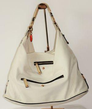 Tod's Bolsa Hobo blanco-beige