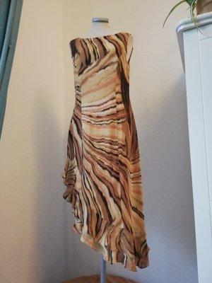 letzter Preis! Alba Moda Kleid asymetrisch braun Gr. 36 S Milano neu Eutuikleid gerüscht Mamor tiger