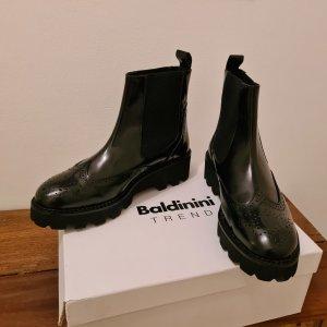Letzter Preis Baldinini Chunk Boots Leder schwarz Gr. 39 Neu