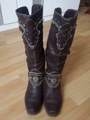 Deichmann Western Boots black brown