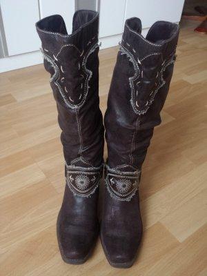 Deichmann Botas estilo vaquero marrón-negro