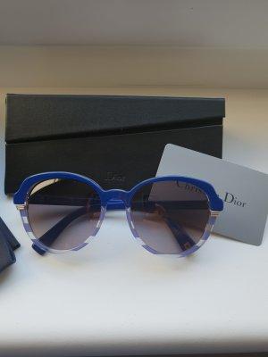 Dior Occhiale da sole rotondo blu neon
