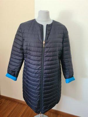 Escada Sport Płaszcz puchowy niebieski neonowy-ciemnoniebieski