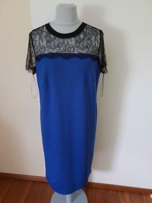 Letzter Preis Escada Sport Kleid Gr. 40/42 Blau Schwarze Spitze Neu