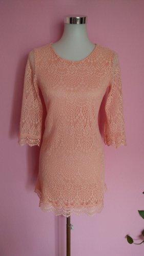 H&M Sukienka boho brzoskwiniowy Poliester