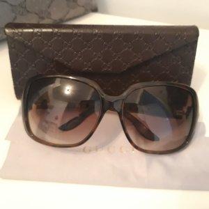 Gucci Ovale zonnebril bruin-donkerbruin