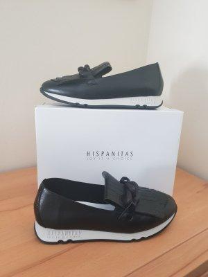 Hispanitas Zapatos formales sin cordones negro-gris claro