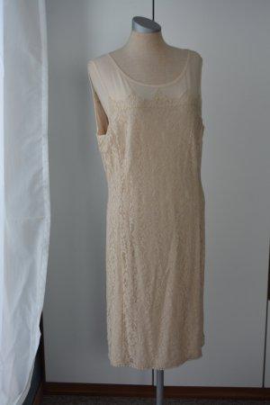 letzter Preis!!!Kleid knielang Taifun Gr. 40 creme Spitze neu mit Etikett Sommerkleid festlich