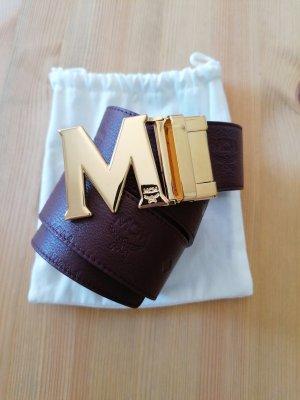 letzter Preis MCM Echtleder Gürtel neu mit Rechnung mit Schließe 93 cm beidseitig zu tragen
