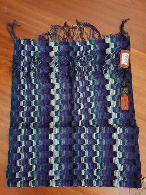 Letzter Preis Missoni Schal Unisex Blautöne Neu mit Etikett
