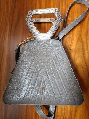 Letzter Preis Native Dubai Bag mit Schlangenleder grau Neu
