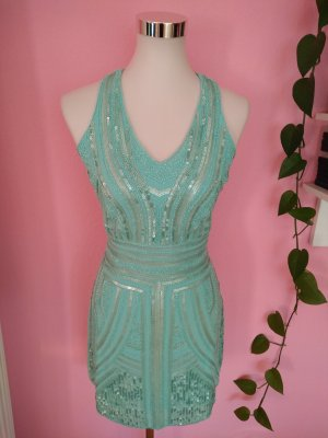 Danity Sequin Dress lime-green-mint polyester