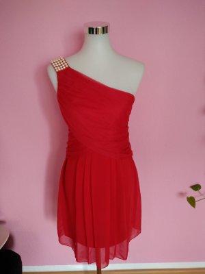 Bodyflirt Eénschouderjurk rood-room Polyester