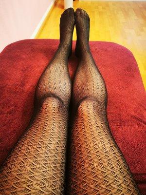 Falke Leggings nero Tessuto misto