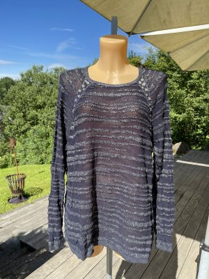Gerry Weber Knitted Sweater dark blue-silver-colored