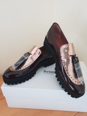 Letzter Preis Pertini Trend Lackleder Mokassins Bordeaux Gr. 39 Neu