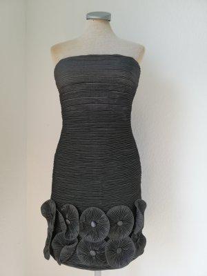 Bandeau Dress silver-colored-light grey