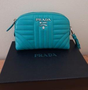 Letzter Preis Prada Pochette / Beautycase/ Abendtasche Leder Neu