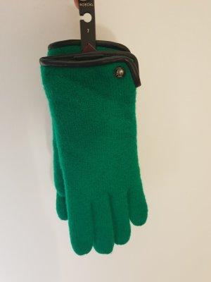 Roeckl Gants en tricot noir-vert