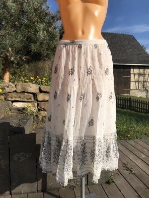 Vintage Spódnica z falbanami Wielokolorowy Wiskoza