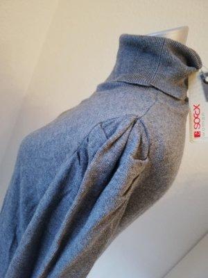 Letzter Preis! soccx Rollkragen Pullover grau Gr. 36 S Viscose Baumwolle neu Puffärmel