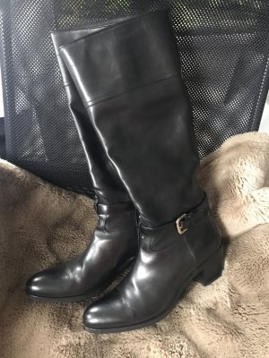 LETZTER PREIS!!! * Superschöner Prada-Stiefel * Leder-Stiefel * Absatz-Stiefel * schwarz * elegant