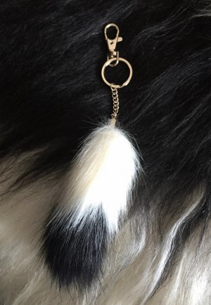 Key Chain multicolored fake fur
