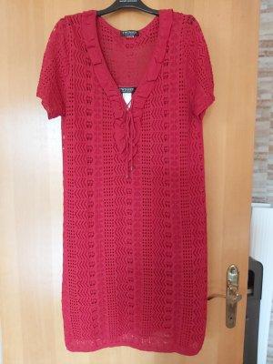 TwinSet Simona Barbieri Robe en maille tricotées rouge brique
