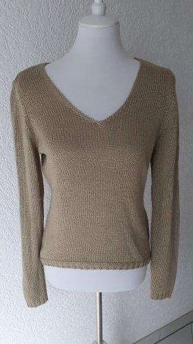 Blue Motion Sweter z grubej dzianiny beżowy