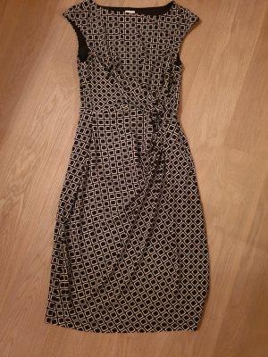 Alba Moda Robe fourreau noir-blanc cassé polyester