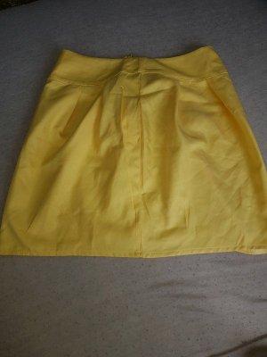 Plisowana spódnica żółty-bladożółty Tkanina z mieszanych włókien