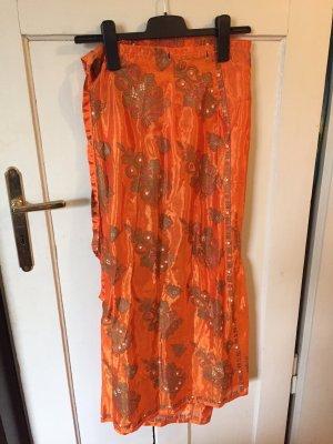 Wraparound Skirt orange-gold-colored