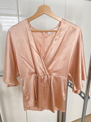 Nakd Kimono Blouse dusky pink-pink satin