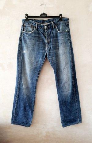 Levi Strauss & Co Jeansy typu boyfriend błękitny-chabrowy