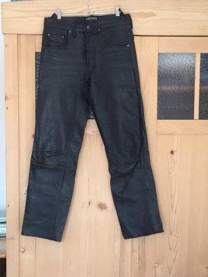 pantera Pantalon en cuir noir