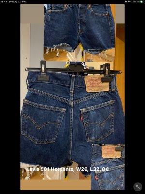 Levi's Hot pants donkerblauw