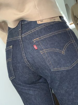Levi's 501 vintage Mom Jeans dunkelblau