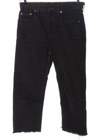Levi's 7/8 Jeans schwarz Streifenmuster Casual-Look