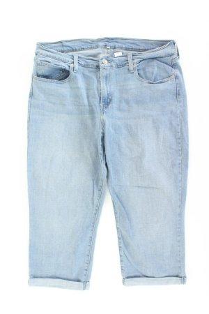 7/8 Length Jeans blue-neon blue-dark blue-azure cotton