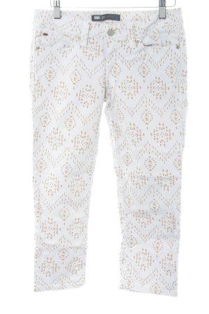 Levi's Jeansy 7/8 biały-nude Na całej powierzchni W stylu casual