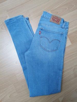 Levi's 711 Skinny Jeans, hellblau, Größe W25 L30