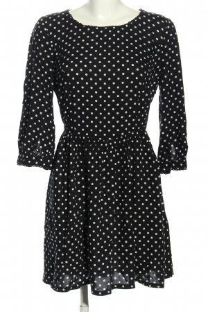 Levi's A-Linien Kleid schwarz-weiß Punktemuster Casual-Look