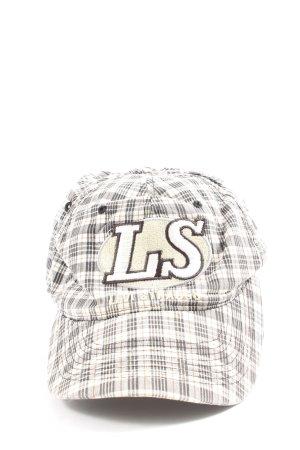 Levi's Basecap weiß-hellgrau Karomuster Casual-Look