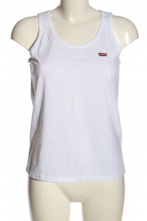 Levi's Basic Top weiß Casual-Look