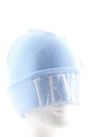 Levi's Berretto blu caratteri ricamati stile casual